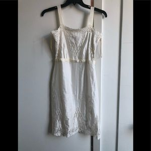 Sz 6 Rachel Roy satin and lace white dress